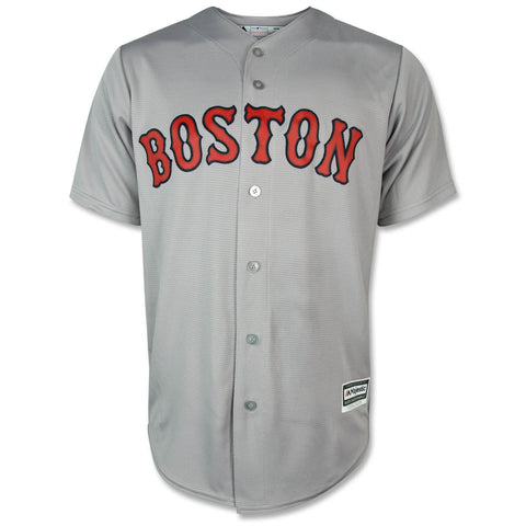 Boston Red Sox Majestic Grey ROAD Cool Base Team Jersey