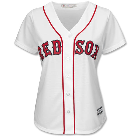 Ladies Boston Red Sox Majestic White HOME Cool Base Jersey