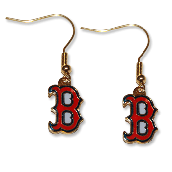 Boston Red Sox B Dangle Earrings