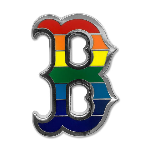Boston Red Sox Rainbow B Logo Lapel Pin