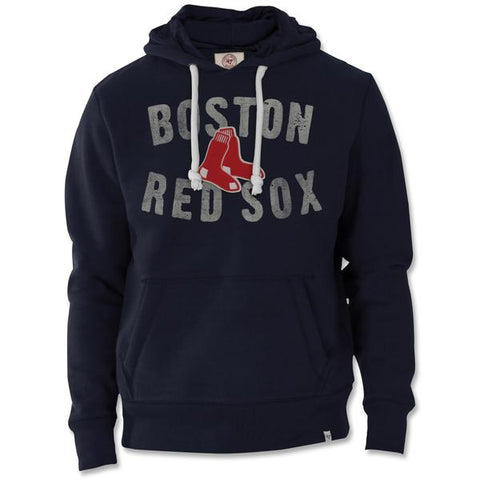 47brand Boston Red Sox Navy Cross Check Pullover Hood