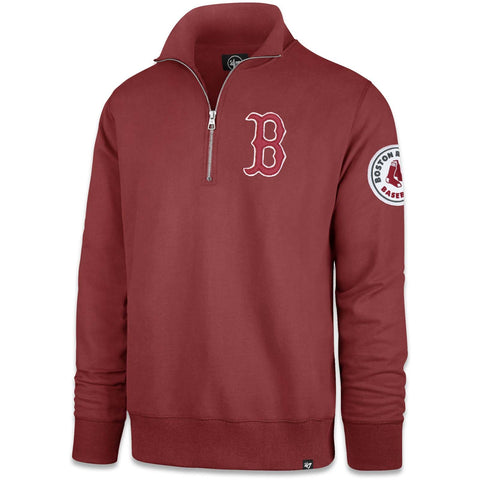 Boston Red Sox Tuscan Red Borderland 1/4 Zip Pullover