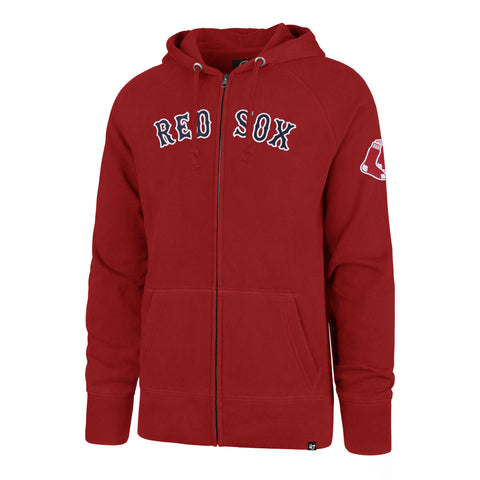 Boston Red Sox RED Full Zip Hood
