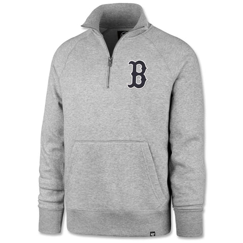 Boston Red Sox Grey Headline Pocket 1/4 Zip Sweatshirt
