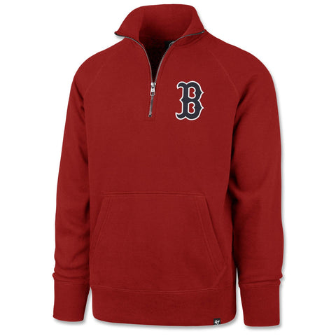 Boston Red Sox Red Headline Pocket 1/4 Zip Sweatshirt