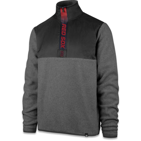 Boston Red Sox Grey Alpine Fleece 1/4 Zip Pullover
