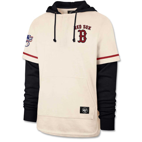 Boston Red Sox Cream/Navy Shortstop Hood. 80% cotton, 20% polyester.