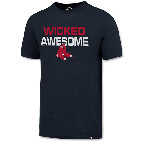 Boston Red Sox Navy Wicked Awesome Scrum Tee