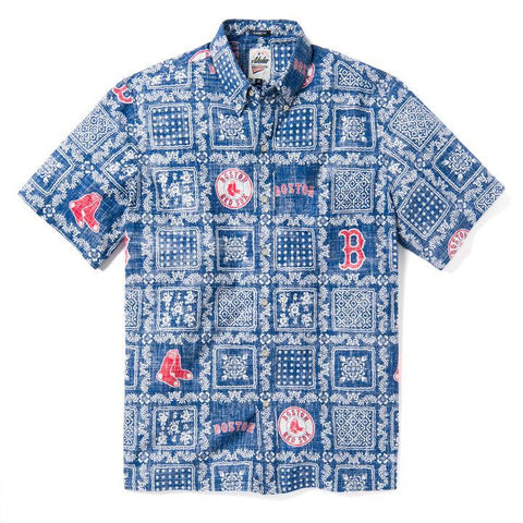 Boston Red Sox Reyn Spooner Lahaina Blue Hawaiian Shirt