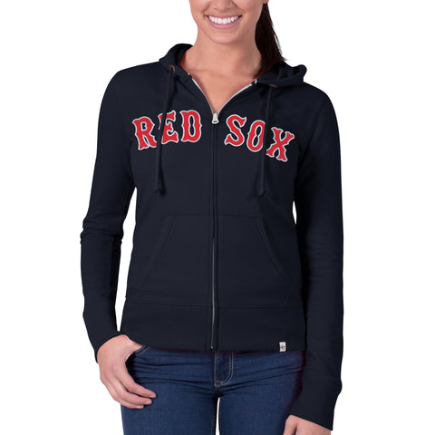 de13985bf1fd7 Boston Red Sox Ladies Navy Scrimmage Full Zip Hood