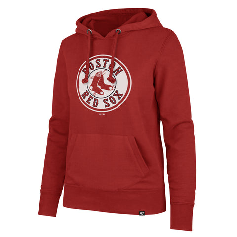 Boston Red Sox Ladies Red Pullover Headline Hood