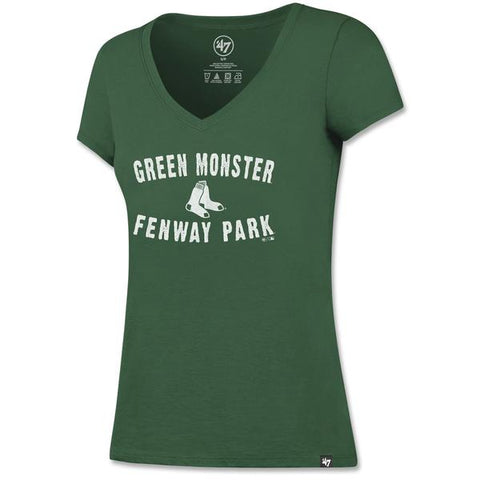 Ladies Pine Fenway Park Green Monster Flanker V-Neck