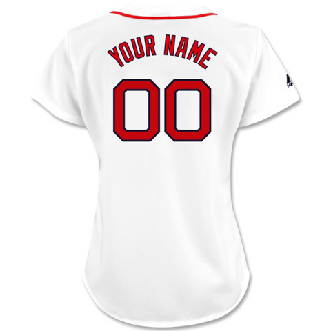 Boston Red Sox Womens Custom Home Replica Jersey