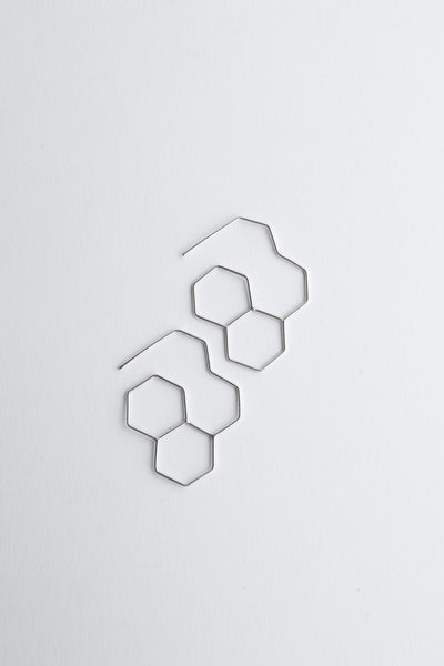 hexagone quad earrings