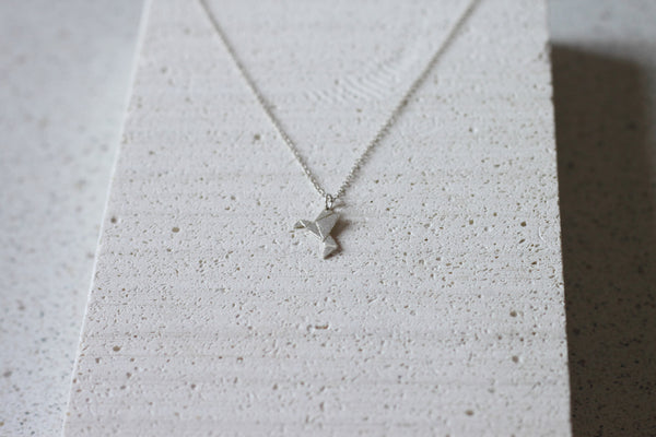 Origami Humming Bird necklace (small)