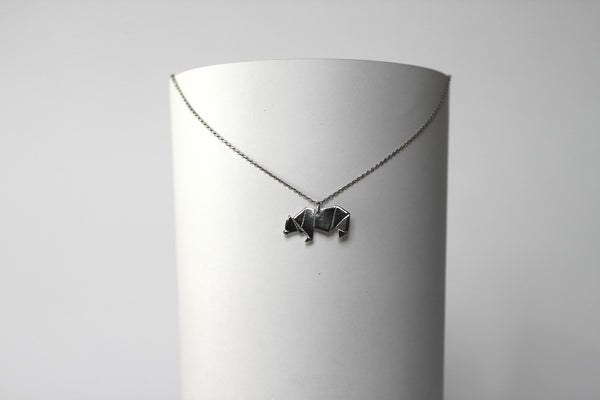 Origami Bear necklace