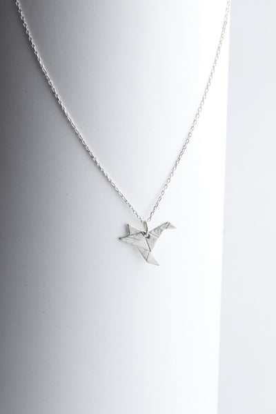 Origami Humming Bird necklace (medium)