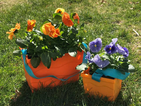 Beachmate's sturdy buckets are perfect as planters or centerpieces!