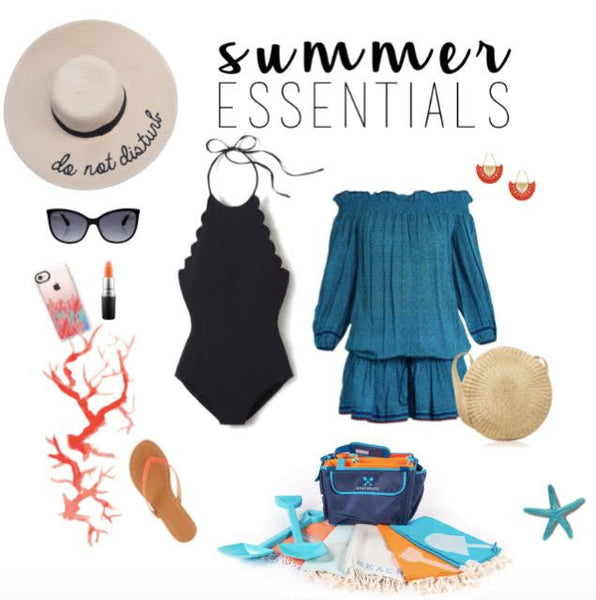 What says summer essentials more than an adorable scalloped edge one piece and a Beachmate tote bag to boot? Keep it all simple and cool whether you're solo at the beach or there with your family!