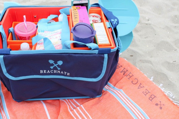 Beachmate will transport all of your necessities with ease! Just tuck them into the pockets and get going!