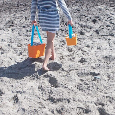 kids beach buckets