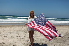 Load image into Gallery viewer, American Flag Turkish Towel