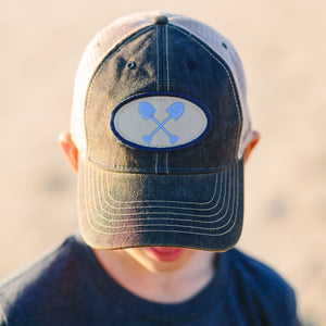 Youth Navy Trucker Hat