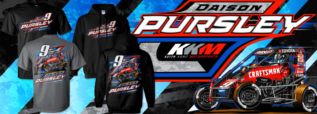 Daison Pursley dirt track midget Gildan t-shirt hoodie apparel