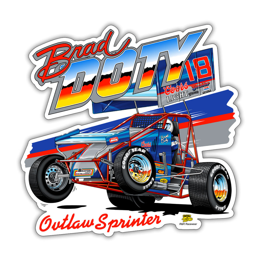 "Brad Doty ""Back in the Day"" Decal"