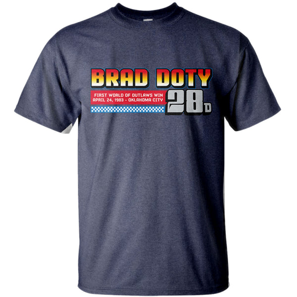 Brad Doty Bowers Coal Sprint Car Heather Navy T-Shirt Front