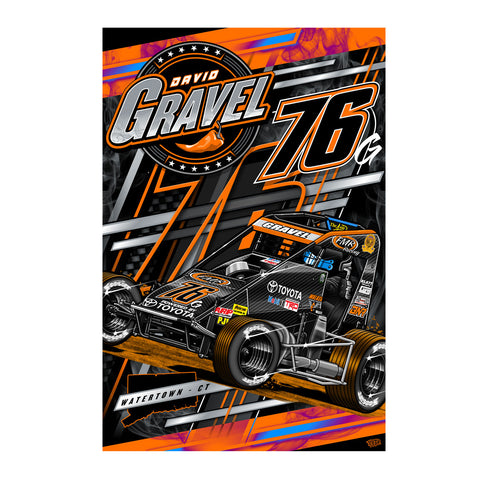 "David Gravel ""Slinging Dirt Indoors"" Poster"