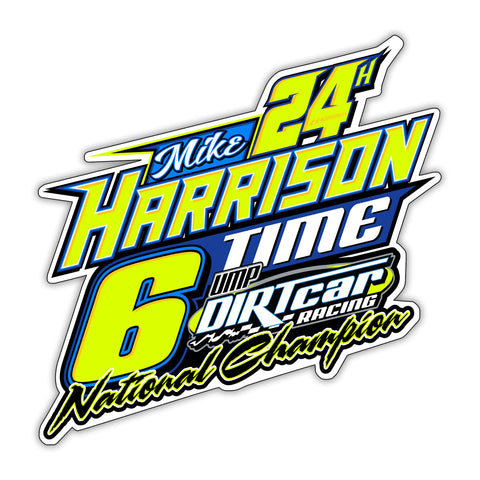 "2018 Mike Harrison""6 Time UMP Mod Champ"" Decal"