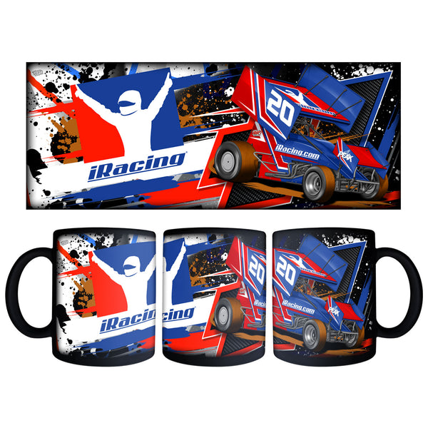 "iRacing ""Dirt"" (4 versions) Black Mug"