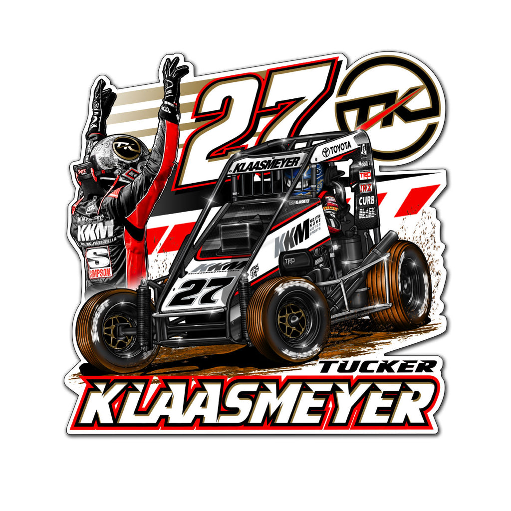 "Tucker Klaasmeyer ""Backed In"" Decal"