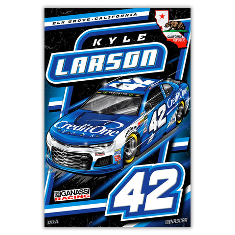"Kyle Larson ""Charging Forward"" Poster"