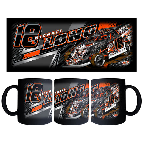 "Michael Long ""Longing to Win"" Black Mug"