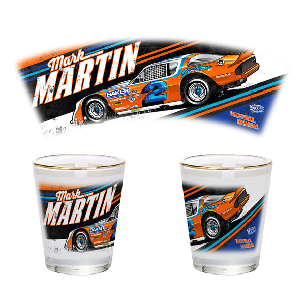 "Mark Martin ""Retro Deuce"" Shot Glass"