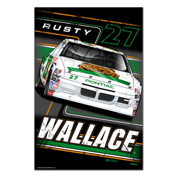 "Rusty Wallace ""Going to the Front"" Poster"
