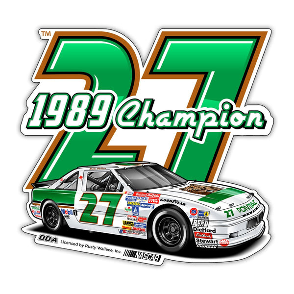 "Rusty Wallace ""1989 Champion"" Decal"