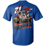 Tanner Carrick POWRi Midget Racing Antique Royal T-Shirt