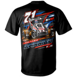 Tanner Carrick POWRi Midget Racing Black T-Shirt