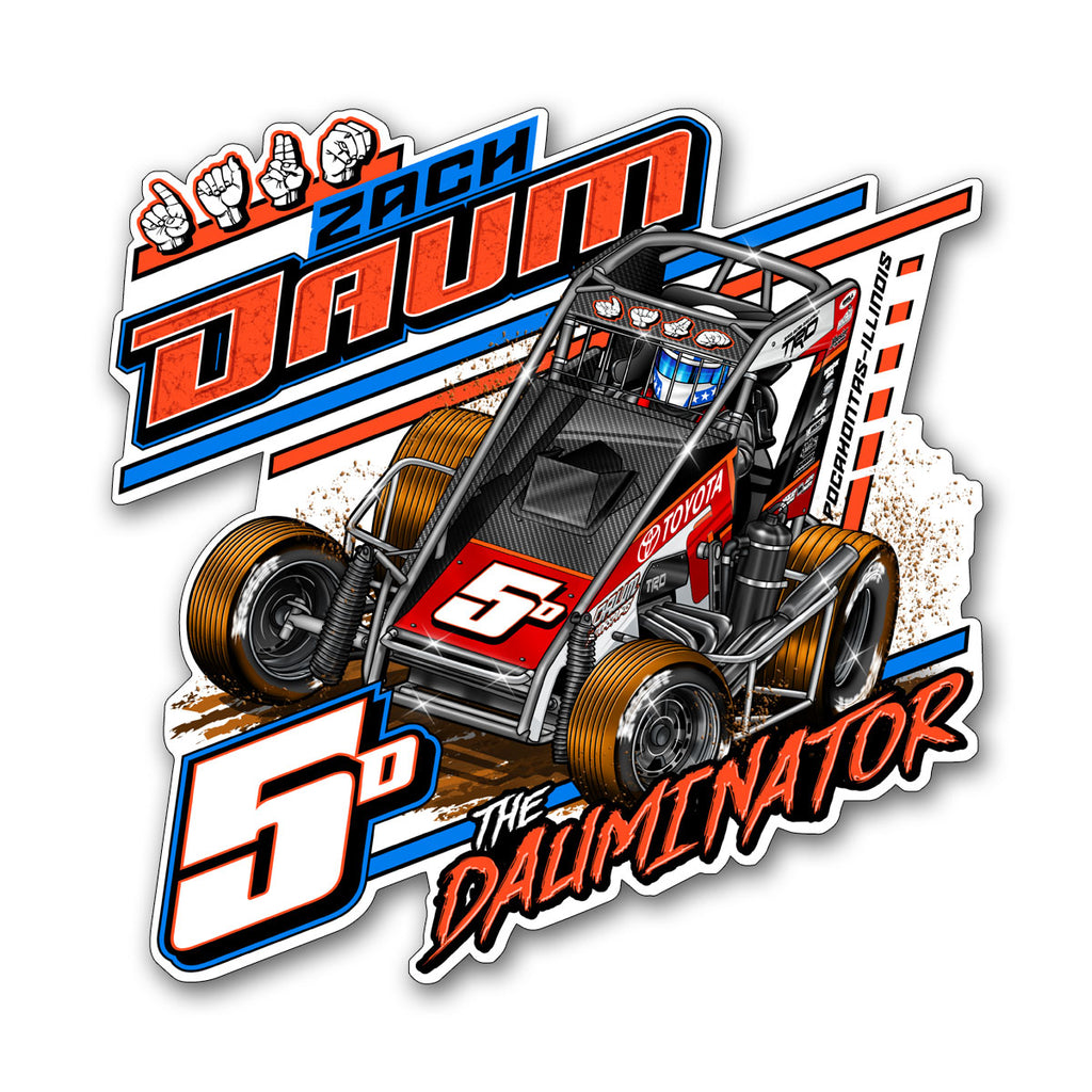 "Zach Daum ""Locked In"" Decal"