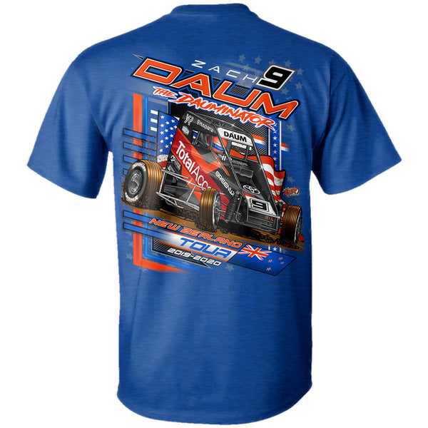 Zach Daum New Zealand Midget Dirt Racing Antique Royal T-Shirt