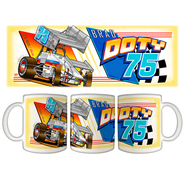 "Brad Doty ""Link to the Past"" White Mug"