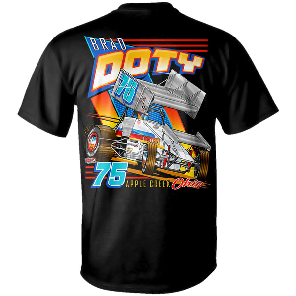 Brad Doty Stanton Sprint Car Black T-Shirt Back