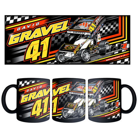 "David Gravel ""Fresh Start"" Black Mug"