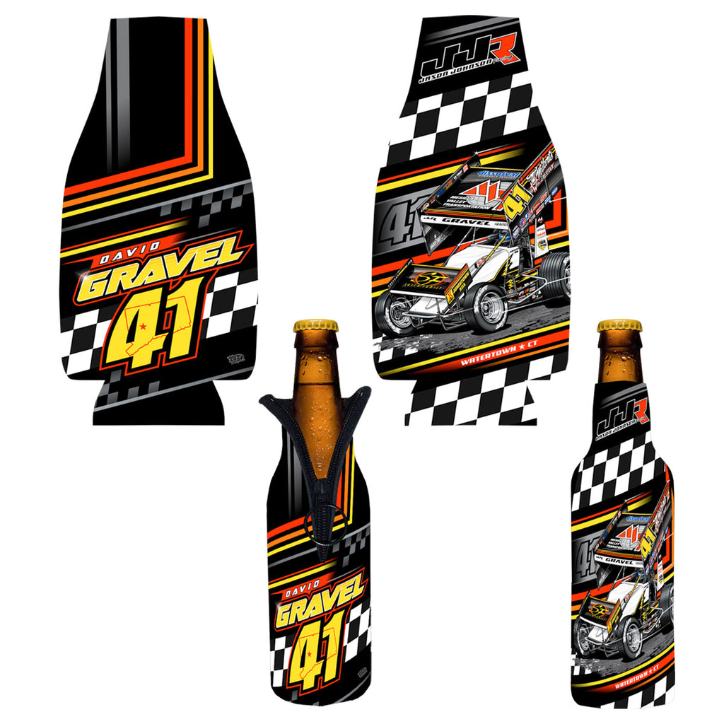 "David Gravel ""Fresh Start"" Bottle Coozie"