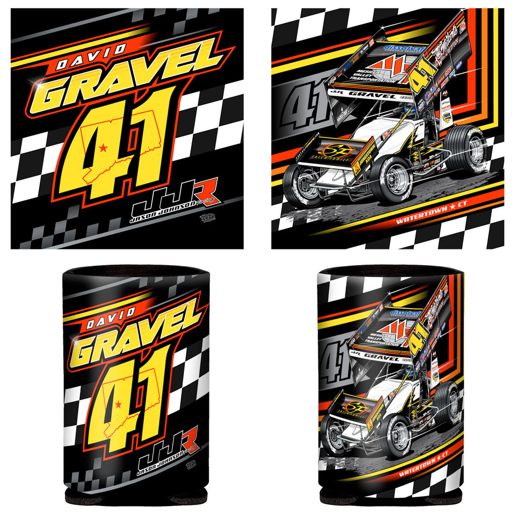 "David Gravel ""Fresh Start"" Can Coozie"