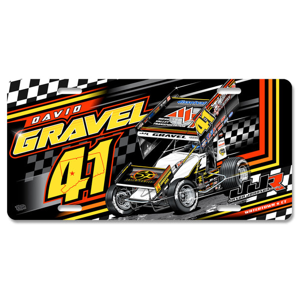"David Gravel ""Fresh Start"" License Plate"