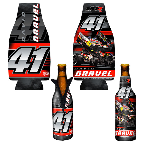 "David Gravel ""Back in Black"" Bottle Coozie"